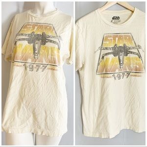 Star Wars 1977 VTG graphic yellow tee medium
